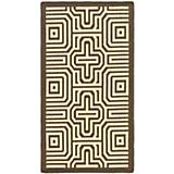 Courtyard Rug CY2962 Chocolate Natural