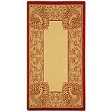Courtyard Rug CY2965 Natural Red