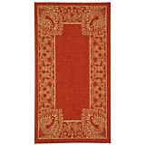 Courtyard Rug CY2965 Red Natural