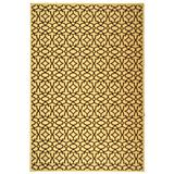 Courtyard Rug CY3006 Natural Chocolate