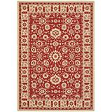 Courtyard Rug CY6126 Red Creme