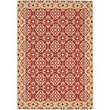 Courtyard Rug CY6550 Red Creme