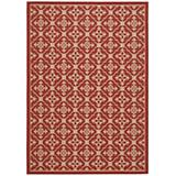 Courtyard Rug CY6564 Red Creme