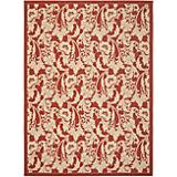Courtyard Rug CY6565 Red Creme