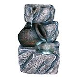 Rock Tabletop Fountain with Tiering Jar and LED