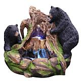 2 Bears Climbing on Rainforest Fountain LED Lght