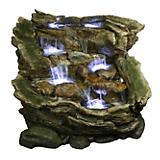 3 Tier Rock and Log Rainforest Fountain with LED