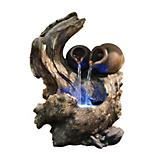 Two Pots Cascading Tree Branch Fountain wth LED
