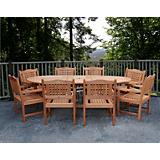 Amazonia Milano Porto Grand Extendable Table Set