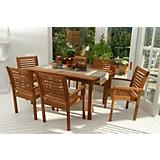 Amazonia Milano Rectangular 7 Piece Set