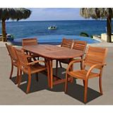 Amazonia Arizona 7Pc Eucalyptus Dining Set