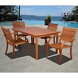 Amazonia Arizona 5Pc Eucalyptus Dining Set