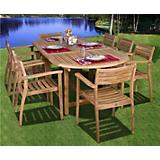 Amazonia Teak Coventry 9 Piece Teak Dining Set