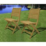 Amazonia Teak Dublin Teak Folding Chairs