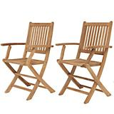 Amazonia Teak London Teak Folding Armchair