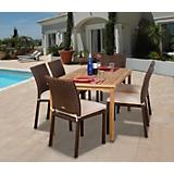 Amazonia Teak Luxemburg 7Pc Wicker Dining Set