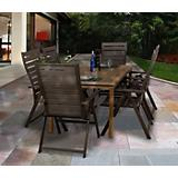 Amazonia Teak Dusseldorf 7Pc Wood Dining Set