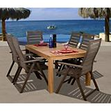 Amazonia Teak Helsinki 7Pc Faux Wood Dining Set