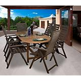 Amazonia Teak San Marino 9Pc Faux Wood Dining Set