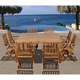 Amazonia Teak Dubai 9Pc Square Dining Set