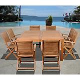 Amazonia Teak Boynton 9Pc Square Dining Set