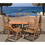 Amazonia Teak Eiffel 9Pc Square Dining Set