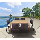 Amazonia Teak Georgia 9Pc Square Dining Set
