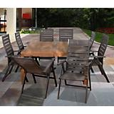 Amazonia Teak Tucson 9Pc Square Dining Set