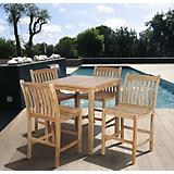 Amazonia Teak Eden 5 Piece Teak Bar Set