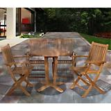 Amazonia Teak Kansas 5 Piece Teak Dining Set