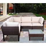 Atlantic Infinity 6Pc Wicker Seat Set Dark Brown