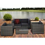 Atlantic Metz 5Pc Gry Wicker Seat Set