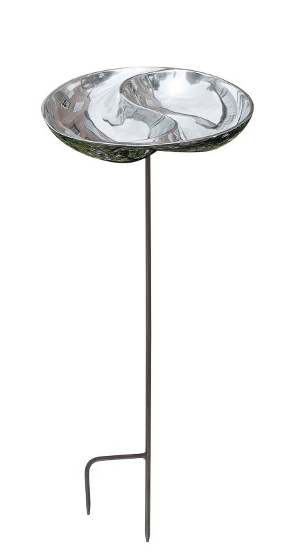 Yin and Yang Birdbath Without Stand
