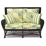 Palm Spring Love Seat in Antique Black