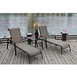 Amara 3 Piece Chaise Set