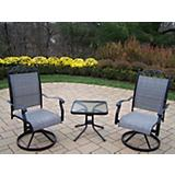 Cascade 3pc Swivel Chat Set