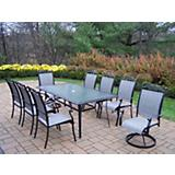 Cascade 9pc Sling Dining Set
