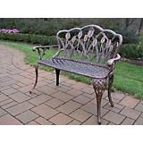 Tulip Cast Aluminum Loveseat Bench