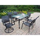 Web 7pc Dining Set with Swivels