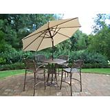 Elite 5pc Bar Set with Umbrella and Stand