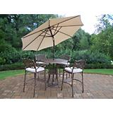 Elite 5pc Bar Set with Cushions plus Umbrella