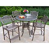 Elite Mississippi Cast Aluminum 42Inch 5pc Bar Set