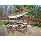 Elite Mississippi 5pc Cushion and Umbrella Set