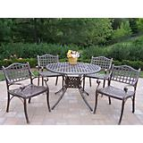 Elite Cast Aluminum 42Inch 5pc Dining Set