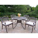 Elite Cast Aluminum 5pc Dining Set with Cushions