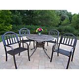 Elite Cast Aluminum 42In Rochester 5pc Dining Set