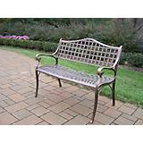 Elite Cast Aluminum Settee Bench