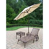 Elite 2pc Chaise Lounge Set with Umbrella
