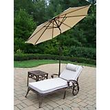 Elite 2pc Lounge Set with Cushion Umbrella