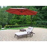 Elite 2pc Lounge Set w/ Cushion and Grn Umbrella